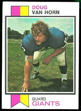 Doug Van Horn 1973 Topps football card