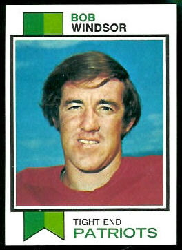 Bob Windsor 1973 Topps football card