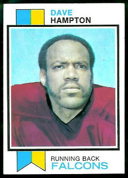 Dave Hampton 1973 Topps football card