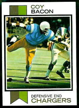 Coy Bacon 1973 Topps football card