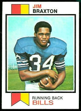 Jim Braxton 1973 Topps football card