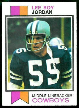 Lee Roy Jordan 1973 Topps football card
