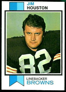 Jim Houston 1973 Topps football card