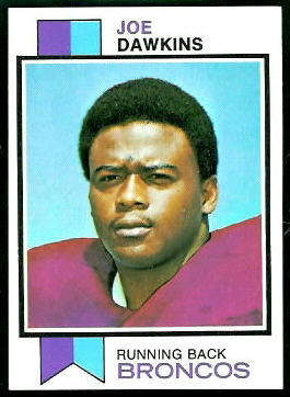 Joe Dawkins 1973 Topps football card