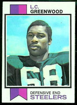 L.C. Greenwood 1973 Topps football card