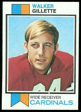 Walker Gillette 1973 Topps football card