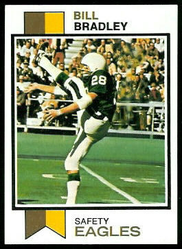 Bill Bradley 1973 Topps football card