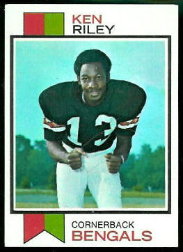 Ken Riley 1973 Topps football card