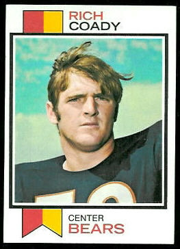Rich Coady 1973 Topps football card