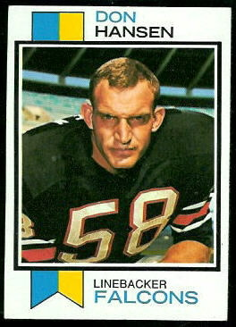 Don Hansen 1973 Topps football card