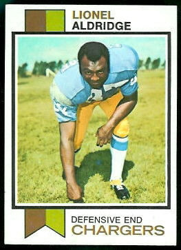 Lionel Aldridge 1973 Topps football card