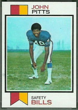 John Pitts 1973 Topps football card