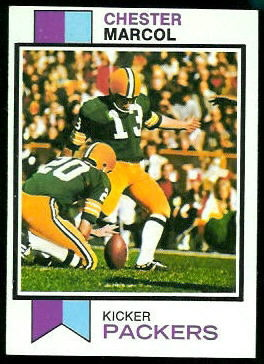 Chester Marcol 1973 Topps football card