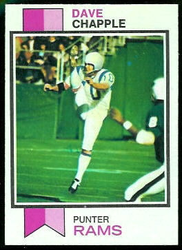Dave Chapple 1973 Topps football card