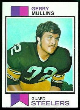 Gerry Mullins 1973 Topps football card