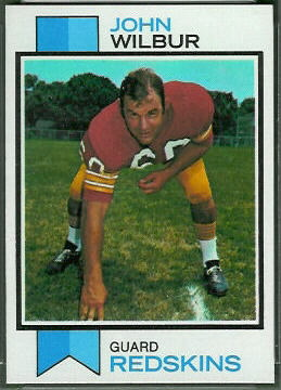 John Wilbur 1973 Topps football card