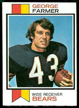 George Farmer 1973 Topps football card