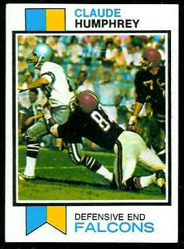 Claude Humphrey 1973 Topps football card
