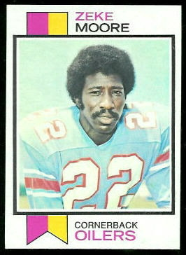 Zeke Moore 1973 Topps football card