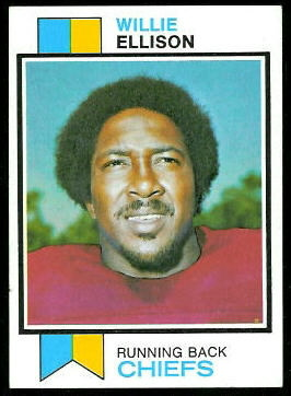 Willie Ellison 1973 Topps football card