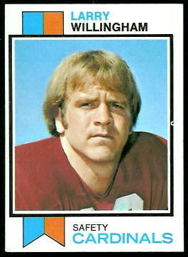 Larry Willingham 1973 Topps football card