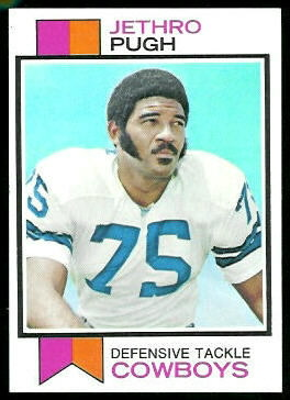 Jethro Pugh 1973 Topps football card