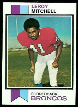 Leroy Mitchell 1973 Topps football card