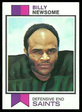 Billy Newsome 1973 Topps football card