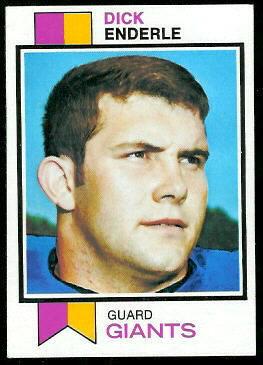 Dick Enderle 1973 Topps football card
