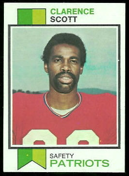 Clarence Scott 1973 Topps football card