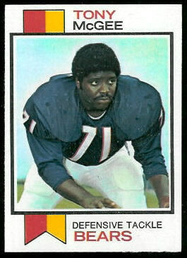 Tony McGee 1973 Topps football card