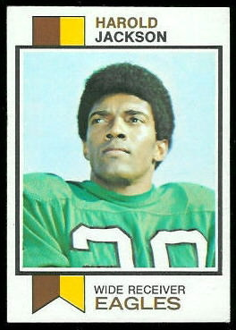 Harold Jackson 1973 Topps football card