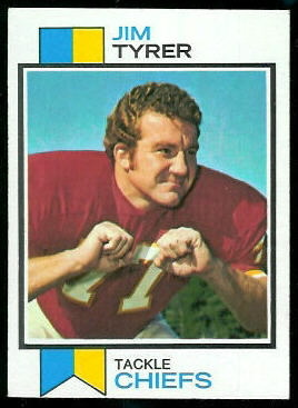 Jim Tyrer 1973 Topps football card