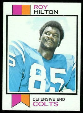 Roy Hilton 1973 Topps football card