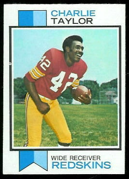 Charley Taylor 1973 Topps football card