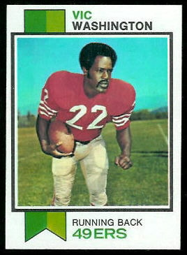 Vic Washington 1973 Topps football card