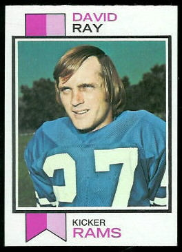 David Ray 1973 Topps football card