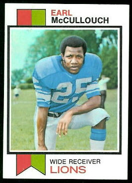 Earl McCullouch 1973 Topps football card