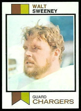 Walt Sweeney 1973 Topps football card