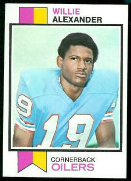 Willie Alexander 1973 Topps football card