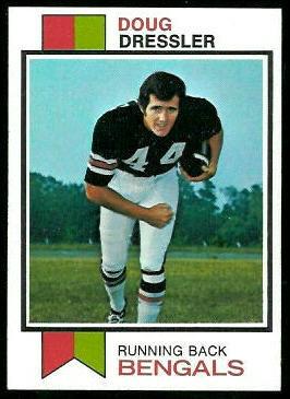 Doug Dressler 1973 Topps football card
