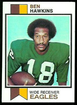 Ben Hawkins 1973 Topps football card
