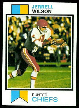 Jerrel Wilson 1973 Topps football card