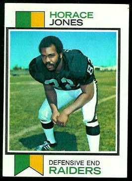 Horace Jones 1973 Topps football card