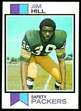Jim Hill 1973 Topps football card