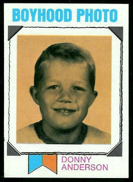 Donny Anderson Boyhood Photo 1973 Topps football card