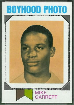 Mike Garrett Boyhood Photo 1973 Topps football card