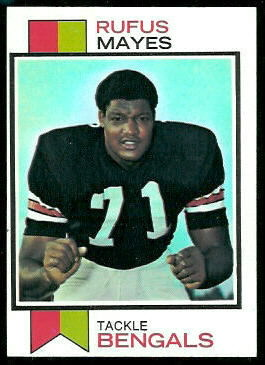 Rufus Mayes 1973 Topps football card