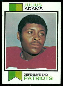 Julius Adams 1973 Topps football card