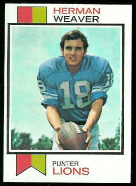 Herman Weaver 1973 Topps football card